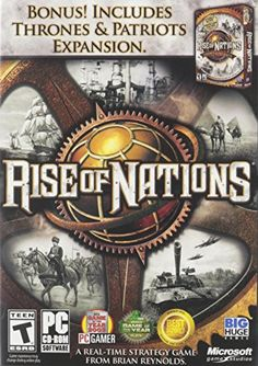 Rise of Nations + Rise of Nations: Thrones & Patriots - PC Real Time Strategy, Strategy Games, Single Player, Pc Game, Cold War, Napoleon, The World's Greatest, The Expanse, Patriots