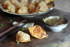 Gochujang (fermented Korean red chile paste which is smokier than sriracha)  Potstickers (Pork, Rice Wine Vinegar, Onion, Garlic, Gochujang, Sesame Oil, Wonton Wrappers) - MADE THESE EXCELLENT, EXCELLENT!!