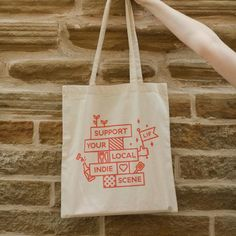 What have you been doing to support your local indies during lockdown? These tees and totes by Leeds Indie Food came at the perfect time. They sold a load on Mercht and it will all go back into putting on great independent events when this is all over. Indie Scene, Leeds, Totes, Reusable Tote Bags, Events, Logo, Logos, Bags, Big Bags