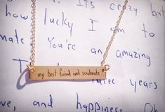 Your Handwriting Handwritten Bar Necklace 1.2 x by TheFeatherPen1