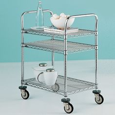 Metro Commercial Industrial 3-Shelf Serving Cart | The Container Store