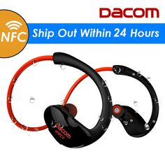 Big discount US $19.49  Dacom Athlete Bluetooth Headset Wireless Headphone BT4.1 Sports Stereo Earphone with HD Mic NFC auriculares for iPhone Samsung  Get here: Laptop