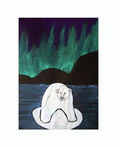 NORTHERN LIGHTS polar bear
