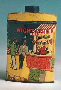 early 1940s Night Club talcum powder tin. Photo Robert Opie