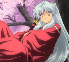 Inuyasha (Inuyasha)  The way he and Kagome pretend they don't like each other...it's like double tsundere! <3