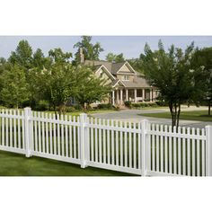 WamBam Traditional 7' x 4' Premium Vinyl Classic Picket Fence Panel with Post and Cap - White $109