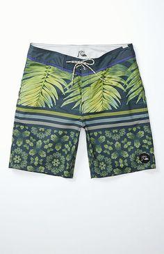 Quicksilver boardshorts, mens swim, boys swim, tropical swim print, print mix swim, stripes