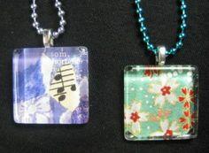 Glass Tile Pendants Glass Jewelry, Pendant Jewelry, Pendant Necklace, Glass Tile Pendant, Making Glass, Just Do It, Making Ideas, Dog Tag Necklace, Glaze