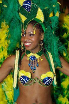 Beautiful Afro-Brazilian woman at carnival in Rio De Jineiro!