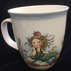 Mary Engelbreit Mermaid Coffee Tea Mug Sea Shell Sea Shell Sing Me a Song #CapeShore