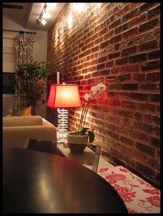 I love exposed brick walls