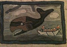 This is a hooked rug pattern by Star Rug Company, based on an antique hooked rug