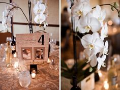 Table numbers by age of bride and groom in pictures! Such a great idea!