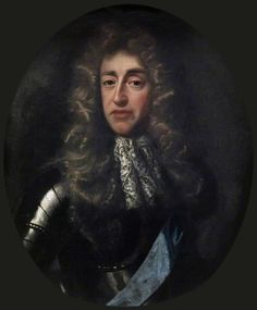 James II of England,then Duke of York by John Riley.in the 1660s,In 1683,a plot was uncovered to assassinate Charles and James and spark a republican revolution to re-establish a government of the Cromwellian style.The conspiracy ,known as the Rye House Plot,backfired upon its conspirators and provoked a wave of sympathy for the King and James.Several notable Whigs,including the Earl of Essex and the King's illegitimate son,the Duke of Monmouth, were implicated.Essex committed suicide.