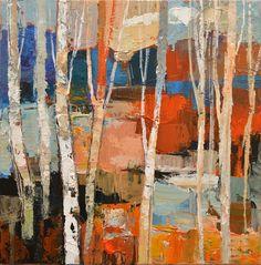 Il mondo di Mary Antony: I paesaggi astratto- impressionisti di Iosif Derecichei Abstract Landscape, Abstract Art, Clyde Aspevig, Painting Words, Art Gallery, Trees, Artist, Artwork, Art Ideas