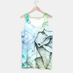 French Girl Tank Top Printed Tank Tops, Athletic Tank Tops, French, Unisex, Live, Stylish, Design, Women, Fashion
