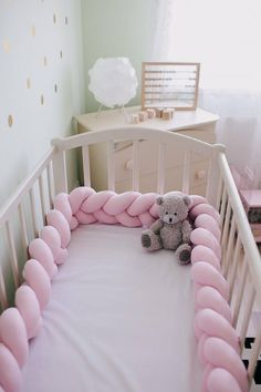 Every mother realises that secure and comfort of baby is on the first place. We offer stylish braided cot bumper that is made of NATURAL fabric and high quality filling what is 100% HYPOALLERGENIC . SIZES We offer big variety of sizes, so you can pick the one that better fits your