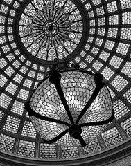 Chicago Cultural Center Chandelier and Tiffany Dome