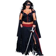 Lady Zorro Plus Size 18 - 20 Ladies Superhero Costume
