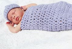 Lavender Cozy 'N Snug Baby Bag for baby by CraftedwithHandandHe, $25.00