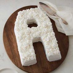 Countless Celebrations Cake Pan Set, Letter and Number Cake Pan Birthday Cakes For Men, Alphabet Cake, Buttercream Cake Designs, Graduation Desserts, Cake Lettering, Monogram Cake, Easy Cake Decorating, Decorating Ideas, Cake Shapes