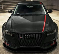 Audi with a line of red