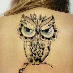 #mulpix  #tattoo  #owl  #owl_tattoo  #lace_tattoo