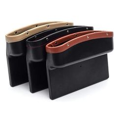 Favorable Leather Car Seat Storage Box Auto Seat Gap Pocket Organizer For Phone Card Cigarettes Storage - NewChic Mobile Car Storage Box, Seat Storage, Hidden Storage, Extra Storage, Car Seat Organizer, Pocket Organizer, Car Organizers, Cleaning Leather Car Seats, Car Cleaning