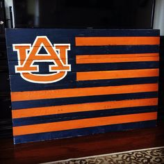 Auburn University Pallet Flag by ForTheLoveOfPallets, $75.00 www.facebook.com/fortheloveofpallets.tx