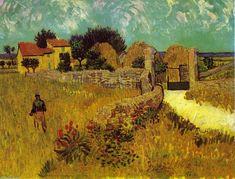 'Cortijo en Provence', óleo sobre lienzo de Vincent Van Gogh (1853-1890, Netherlands)