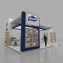Modeling developed by studio Max, rendering using VRay and finishing in Photoshop. Exhibition Plan, Exhibition Stands, Stand Design, Booth Design, Product Display, Exhibit Design, New Job, Exhibitions, Signage