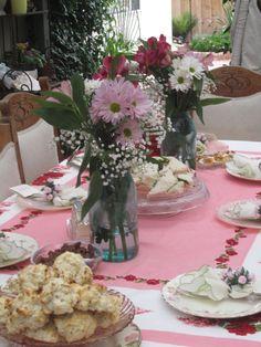 Tea Party - Bridal Shower - Table Set Up