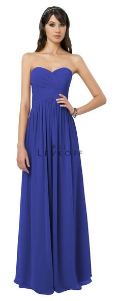 Chiffon strapless gown with a sweetheart neckline. Strapless Dress Formal, Formal Dresses, Wedding Dresses, Navy Blue Bridesmaids, Bridesmaid Dress Styles, Bodice, Chiffon, Gowns, Skirts