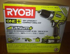 Giveaway of a Ryobi Lithiom-Ion Compact Drill Kit!