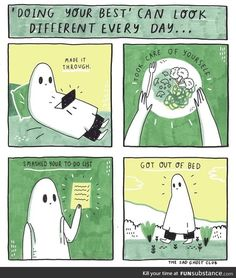 Small victories All You Can, How Are You Feeling, Ghost Comic, Dibujos Cute, Crps, Do Your Best, Be Kind To Yourself, Pretty Words, Self Care