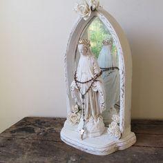 Virgin Mary statue shrine set French Nordic by AnitaSperoDesign