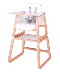 Knuma 4 in 1 Highchair - Beech & White - Longevity | Non-folding | Large Space - Mamas & Papas