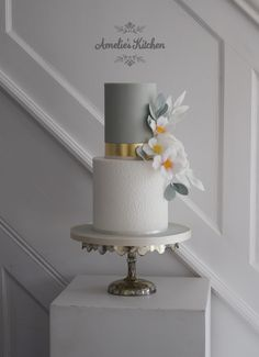 two tier springtime wedding cake featuring Amelie's Kitchen's tulip cake stencil. Informations About two tier springtime wedding cake featuring Amelie's Kitchen's tulip cake stencil. Wedding Cake Prices, Floral Wedding Cakes, Wedding Cake Rustic, Wedding Cakes With Flowers, Beautiful Wedding Cakes, Wedding Cake Designs, Wedding Cupcakes, Wedding Cake Toppers, Elegant Wedding
