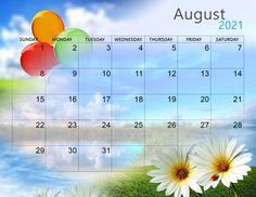Cute August 2021 Desktop Calendar Wallpaper Calendar 2019 Printable, November Calendar, Desktop Calendar, Holiday Calendar, Calendar Wallpaper, Print Calendar, Calendar Design, 2021 Calendar, Printable Planner