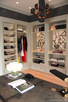Do you like this idea of combining an office and closet as one?