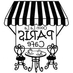 Shop Oooh La La Paris Cafe created by myfunplace. Paris Party, Paris Theme, Diy Image, French Cafe, French Bistro, Outdoor Cafe, Paris Cafe, Digi Stamps, Digital Collage