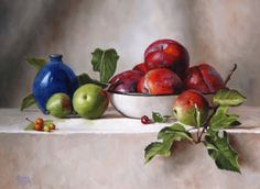 Julie Y Baker Albright-Vermont Fine Artist JYBA Realism Art Oil Paintings Still Life Landscape- NewEngland Oil painting
