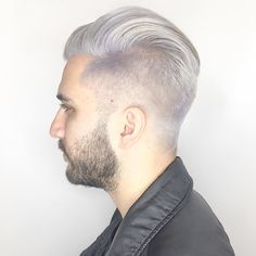 """55 Me gusta, 2 comentarios - SHAG SALON BOSTON (@shagboston) en Instagram: """"🌪s i l v e r f o x 🌪 It's a gray day inside and out! The ultimate silvery white and classic men's…"""""""