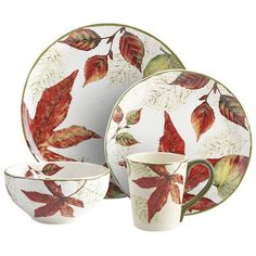 Asheville Dinnerware/pier1. I just bought these for fall. The picture doesn't do them justice. They are really gorgeous!