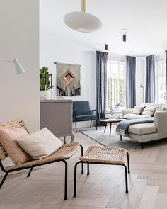 Home And Living, Living Room, Interior Styling, Rattan, Dining Bench, Armchair, Sweet Home, Lofts, House Design