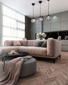 A room should never allow the eye to settle in one place. It should smile at you and create fantasy home decor decoration salon decoration interieur maison Home Living Room, Apartment Interior, Minimalist Living Room, House Interior, Apartment Decor, Living Room Grey, Living Room Decor Gray, Home And Living, Living Design