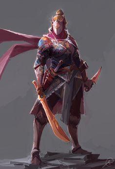 Assassin Concept 2, Jason Nguyen on ArtStation at https://www.artstation.com/artwork/0ENGe