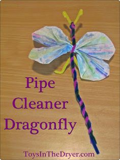 Toys In The Dryer--Minnesota Mom and Parenting Blog: Pipe Cleaner Dragonfly