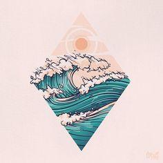 Aloha vibes Aloha vibes Aloha vibes by onevibegraphic art inspiration Aloha vibes Aloha vibes by onevibegraphic art inspiration Tattoo Drawings, Art Drawings, Tattoo Ink, Tattoo Designs, Tattoo Ideas, Ocean Tattoos, Ocean Wave Tattoo, Hawaii Tattoos, Graphic Art
