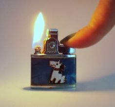 1950s Pocket Lighter Working Royal Star Atom by VintageTobacciana
